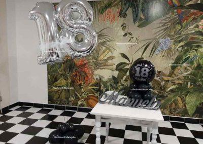 Addobbi 18 Numero gigante 18 a elio centrotavola 18 anni scritta nome compleanno allestimento diciottanni addobbi festa diciottesimo