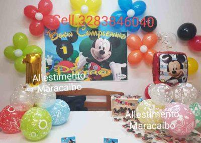 Addobbi Compleanni Bambini allestimenti Maracaibo tavolo torta Ancona Macerata Ascoli Pesaro Fermo