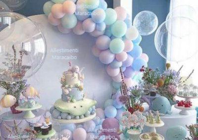 Allestimenti addobbi celeste pastello palloncini ghirlanda decorazioni Civitanova Jesi Senigallia Osimo Castelfidardo Recanati addobbi