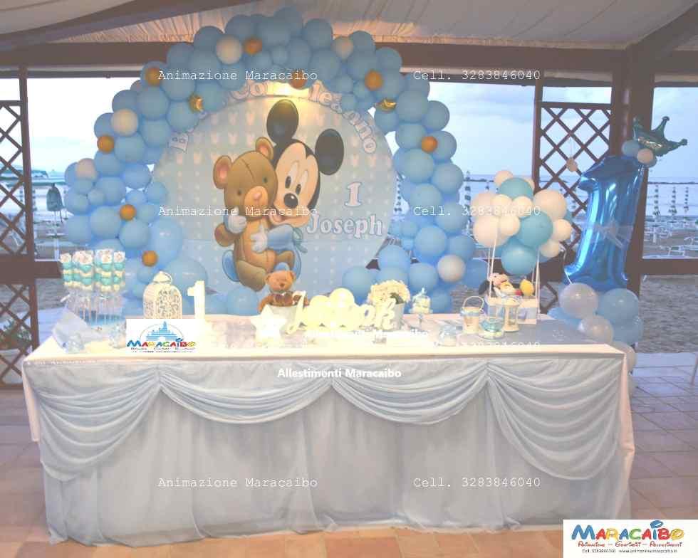 Allestimento Primo Compleanno festa bambini palloncini elio decorazioni composizioni tavolo torta numero tema Ancona Macerata Ascoli Pesaro Fermo