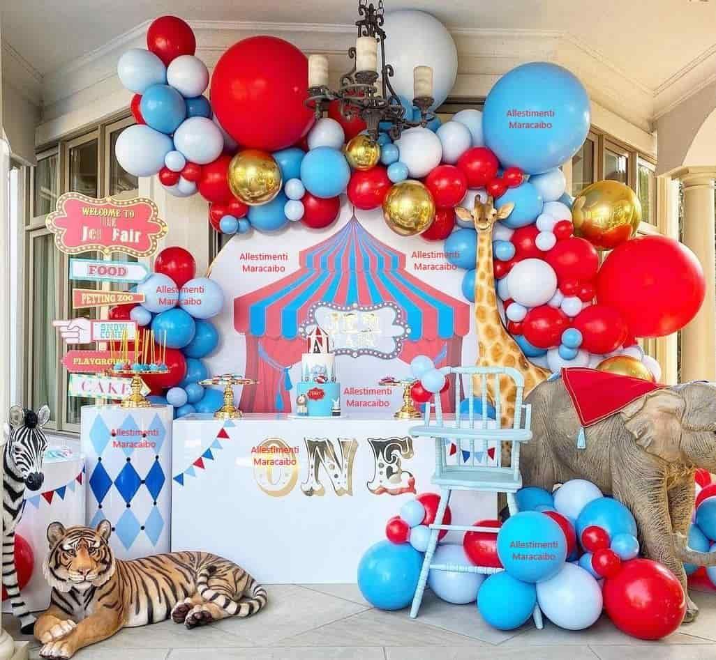 Allestimento Primo Compleanno festa bambini palloncini elio decorazioni composizioni torta numero Loreto Fano Castelfidardo Falconara Tolentino