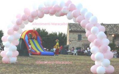 Arco palloncini: composizioni compleanni battesimi matrimoni feste eventi