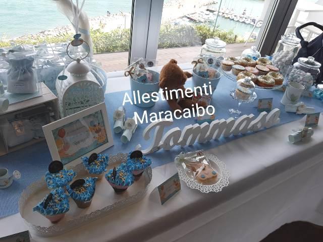 Decorazioni battesimo allestimento palloncini Sweet table addobbo tavolo torta compleanno cerimonia festa Jesi Senigallia Civitanova Osimo Recanati