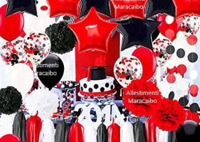 Decorazioni laurea addobbi palloncini allestimenti festa laureati party tavolo centrotavola Ancona, Senigallia, Macerata, Jesi, Civitanova Marche