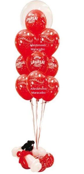 Decorazioni laurea addobbi palloncini allestimenti festa laureati party tavolo centrotavola Ancona Macerata Ascoli Pesaro Fermo Osimo Urbino