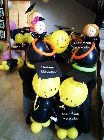 Decorazioni laurea addobbi palloncini allestimenti festa laureati party tavolo centrotavola Ancona Senigallia Macerata Jesi Civitanova