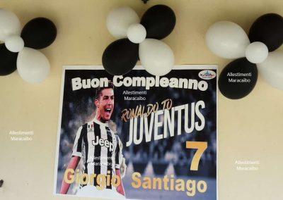 Feste a tema Juventus Ronaldo allestimento compleanno addobbo stampa gigante palloncini Ancona Macerata Marche