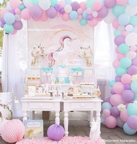 Foto allestimenti Feste a tema Unicorno Addobbi Palloncini Articoli per feste addobbi e decori per elio compleanni cerimonie eventi