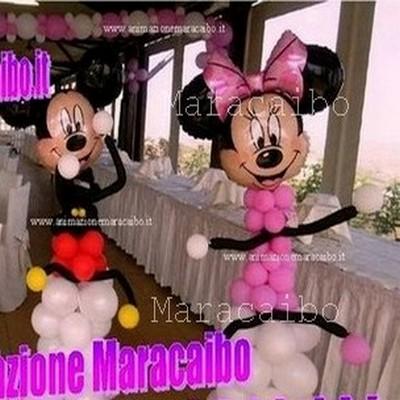 Personaggi Topolino e Minnie su colonne di palloncini composizioni Ancona Macerata Osimo Jesi Falconara Senigallia Civitanova Tolentino