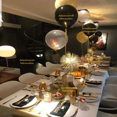 Segnaposto Palloncini ad elio con base per sopra tavolo segnaposto allestimento addobbo tavolo dorato elegante Ancona, Pesaro, Fano Macerata Jesi
