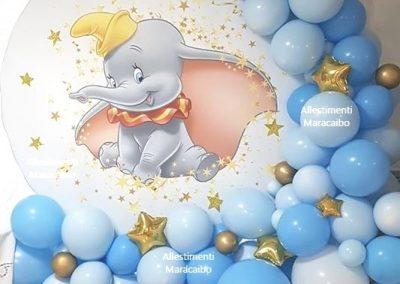 decorazioni battesimo Allestimento tema elefante dumbo palloncini compleanni addobbi bambini