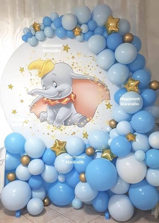 decorazioni battesimo Allestimento tema elefante dumbo palloncini compleanni addobbi bambini Marche