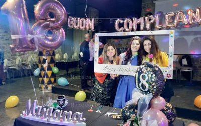 18 anni allestimento compleanno palloncini decori addobbi diciottesimo
