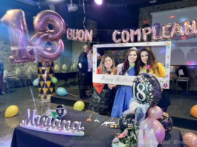 18 anni allestimento compleanno palloncini decori addobbi diciottesimo decorazioni numero diciotto gigante elio animazione festa evento