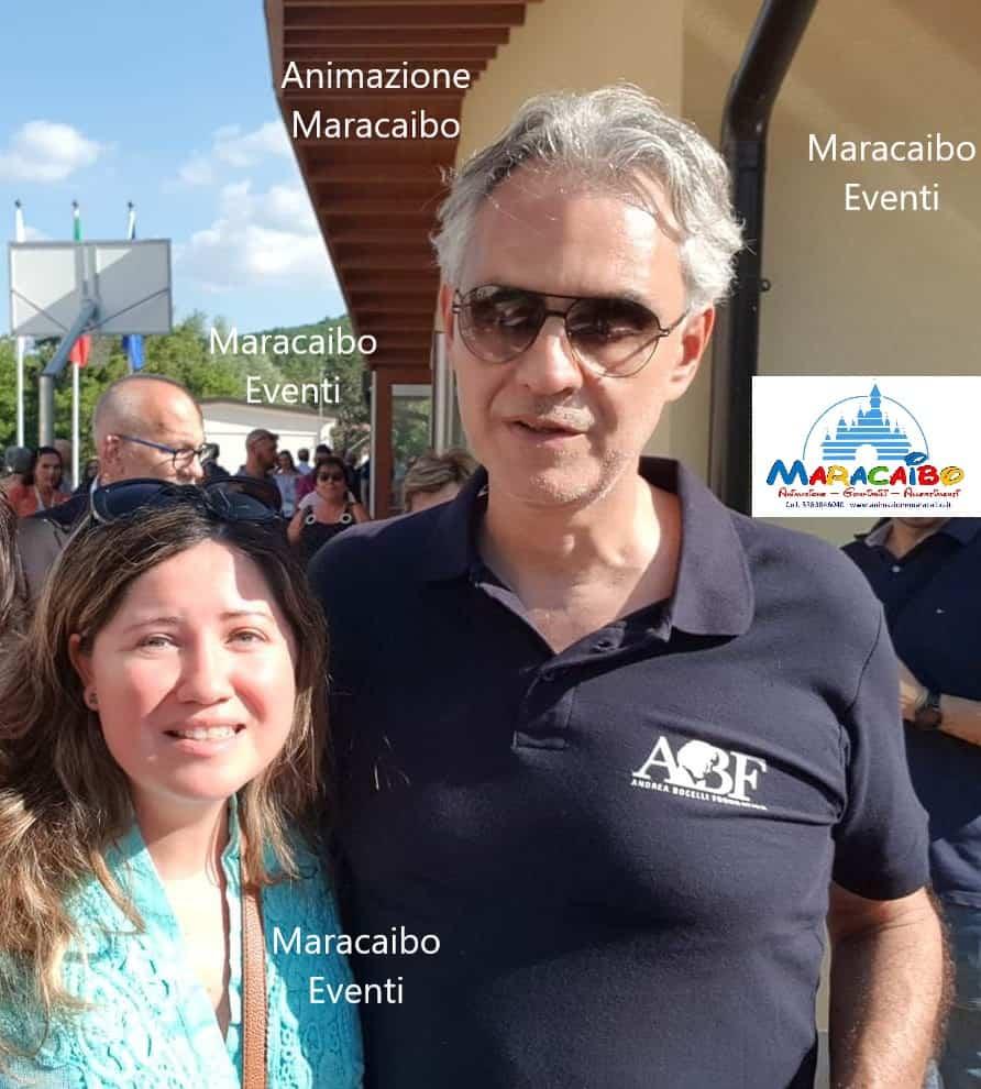 Agenzia Maracaibo con Andrea Bocelli agenzia animazione allestimenti gonfiabili feste eventi cerimonie
