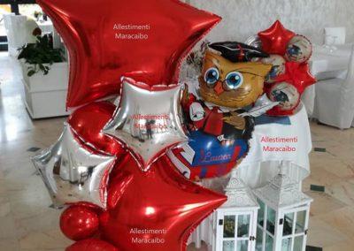 Composizione laurea palloncini elio festa decorazioni addobbi Senigallia Falconara Jesi Fabriano Tolentino Morrovalle Corridonia