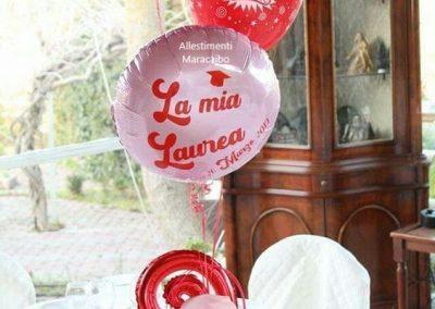 Decorazioni laurea addobbi palloncini allestimenti festa laureati party tavolo centrotavola Ancona Macerata Ascoli Pesaro