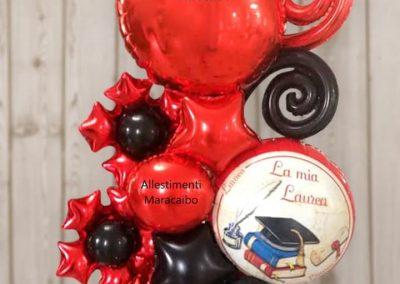 Decorazioni laurea addobbi palloncini allestimenti festa laureati party tavolo centrotavola Ancona Macerata Fano Fermo Ascoli