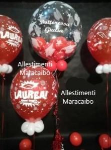 Laurea palloncini elio composizioni decorazioni palloni volano festa laureato laureata Marche Ancona Macerata