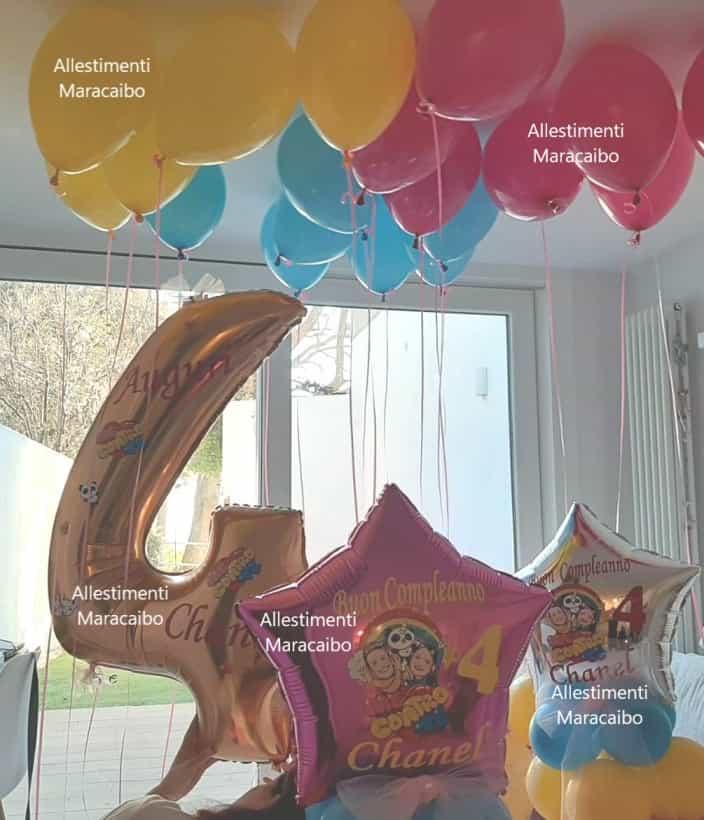 Me contro Te allestimento a tema palloncini lui e sofi composizioni addobbi decorazioni compleanni feste a tema Ancona Macerata
