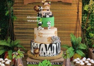 Torta compleanno cerimonia battesimo comunione giungla festa Ancona Senigallia Macerata Jesi Civitanova Marche Osimo Fabriano-min