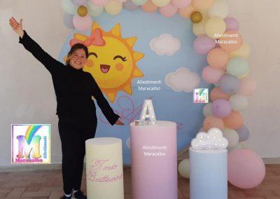 Allestimenti Battesimo decorazioni addobbi palloncini battesimi Ancona Macerata Osimo Castelfidardo Porto Recanati Falconara allestitrice