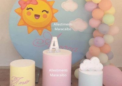Allestimenti Battesimo decorazioni addobbi palloncini battesimi Pesaro Fano Marotta Elpidio Potenza Picena Monteurano Tolentino ghirlanda palloncini