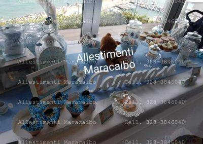 Allestimento Battesimo palloncini addobbi decorazioni tavolo torta elio composizioni centrotavola sweet table tavolo torta