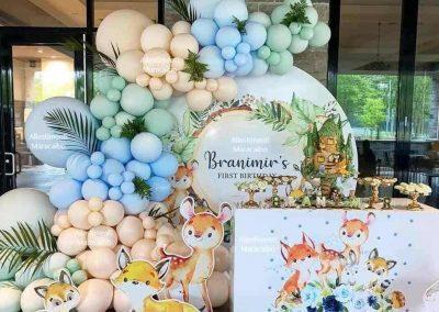 Battesimo palloncini decorazioni torta addobbi feste eventi Marche Umbria Ancona Macerata Civitanova Senigallia Osimo Conero Loreto Jesi
