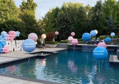 Decorazioni battesimo allestimento palloni elio battesimo scopri sesso baby shower palloncini scoperta nascituro