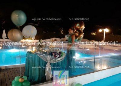 18 anni allestimento diciotto anni festa addobbi organizzazione evento decorazioni palloncini musica scatola regalo fuochi tavolo torta Marche Umbria eventi