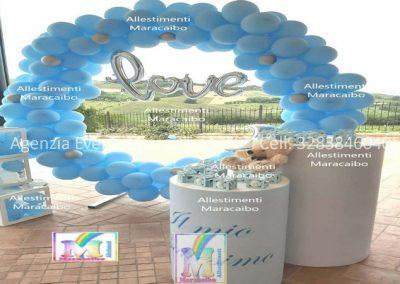 Allestimenti battesimi archi stampe personalizzati palloncini decorazioni tavolo torta Senigallia Fano Pesaro Marotta Camerano Numana