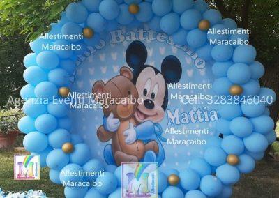 Allestimenti completi per compleanni battesimi archi stampe personalizzati palloncini decorazioni tavolo torta Ancona Osimo Sirolo Chiaravalle