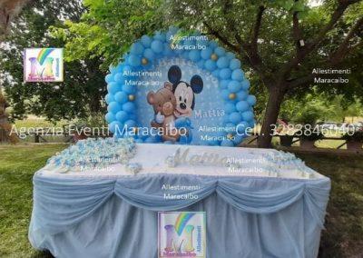 Allestimenti completi per compleanni battesimi palloncini decorazioni tavolo torta Fermo San Benedetto Grottammare