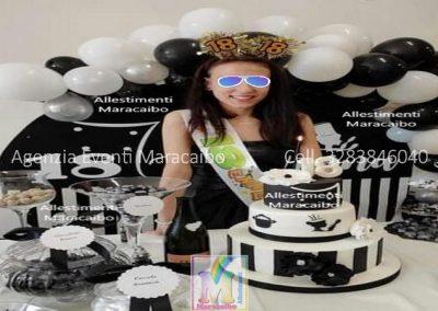 Allestimento compleanno 18 anni diciottesimo palloncini sfondo stampa 1