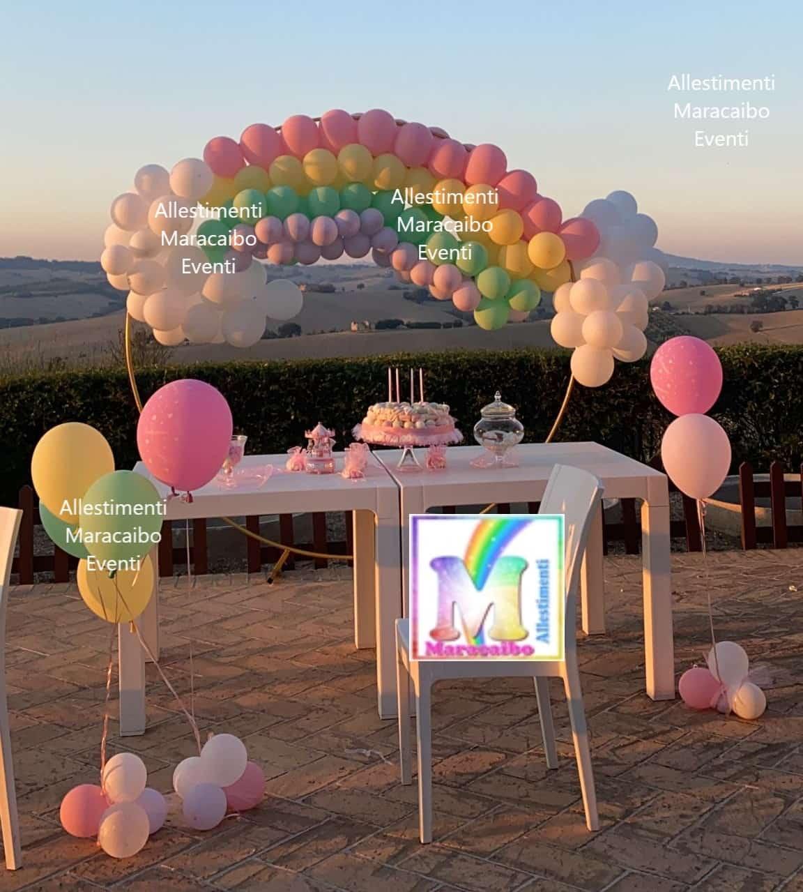 Allestimento primo compleanno cerimonie comunioni feste eventi palloncini Castelfidardo Porto Recanati Osimo Macerata Montegranaro Monteurano Casette ete
