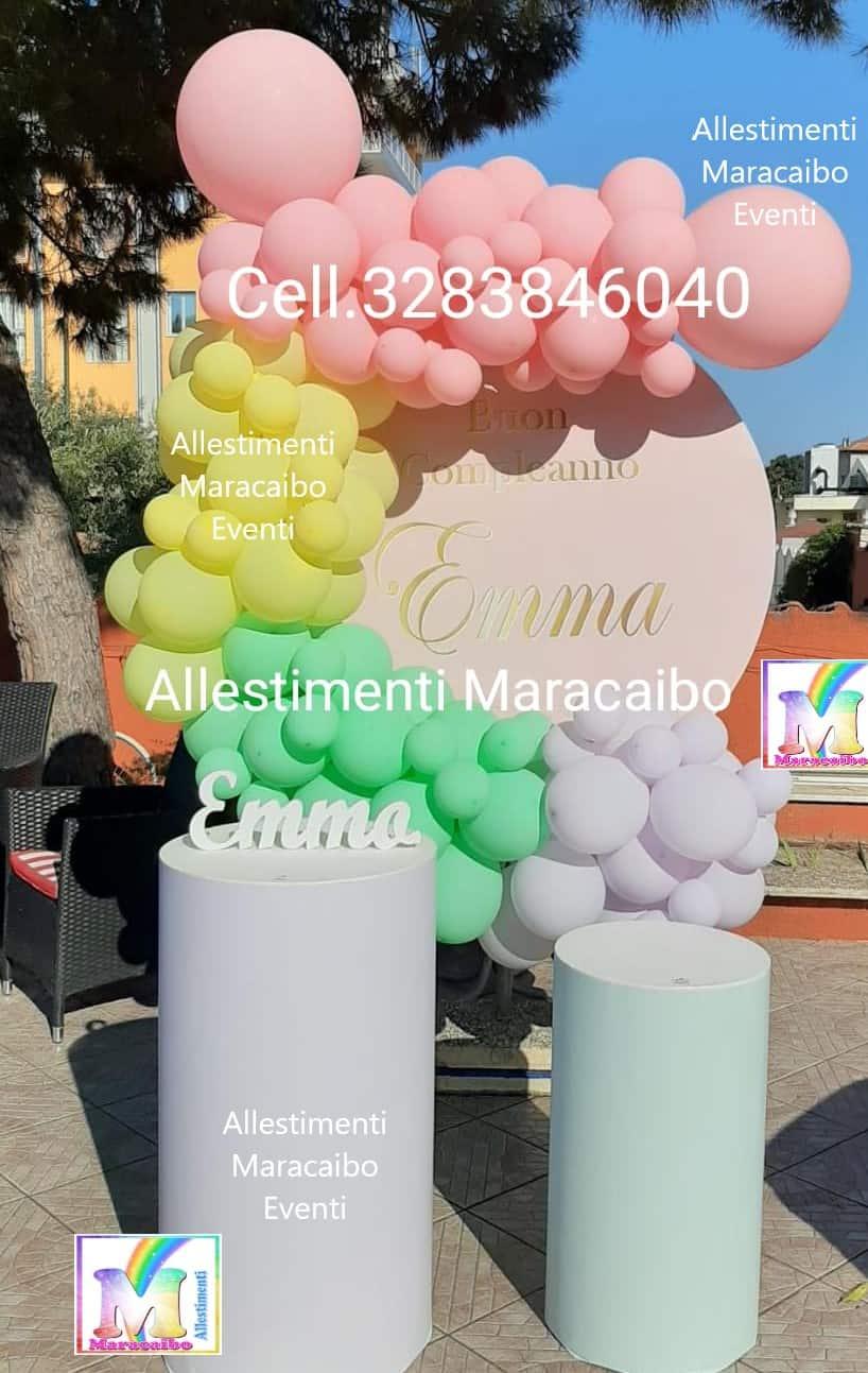 Festa tema Arcobaleno Allestimenti Battesimi addobbi primo compleanno cerimonie comunioni feste eventi palloncini Ancona Senigallia